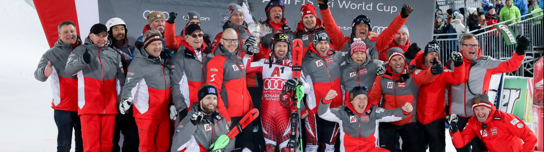 Sein letzter Weltcupsieg: Der Triumph beim Nightrace in Schladming am 29. Januar 2019.