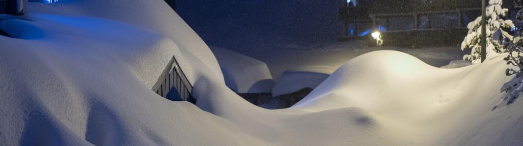 Fast unglaublich - der Ort Val Thorens im Skigebiet Les 3 Vallées.
