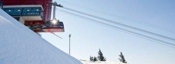 In nur sieben Minuten erreichen Wintersportler von Meran aus die Pisten