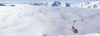 Bis auf eine Höhe von 3.212 Metern reichen die Pisten am Schnalstaler Gletscher