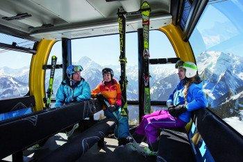Die neue Penkenbahn in Mayrhofen: 24 Personen haben in einer der 33 Kabinen Platz.