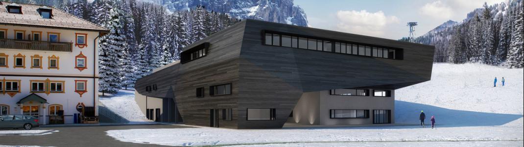 So wird die neue Talstation der Gondelbahn 'Piz Seteur' aussehen.