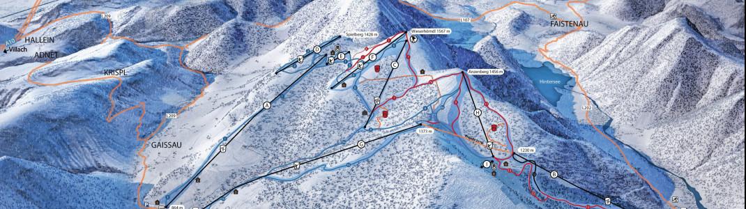 Das Skigebiet Gaißau-Hintersee liegt unweit von Salzburg.