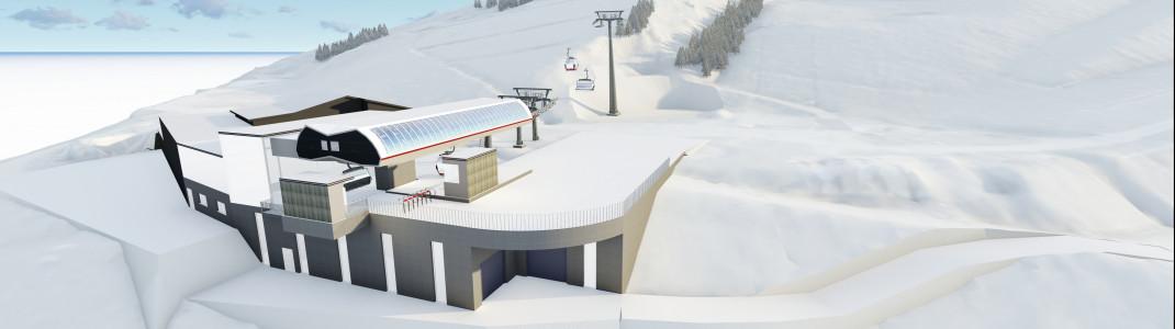 So soll die Talstation der neuen Kombibahn an der Bergeralm aussehen.