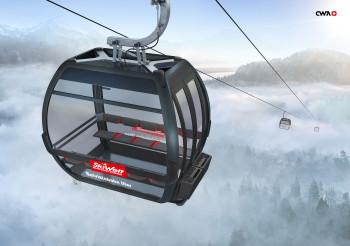 In der SkiWelt wird eine neue Gondelbahn in Itter gebaut.