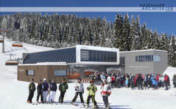 Die neue Talstation der Sonntagskogelbahn 2 in Snow Space Salzburg.