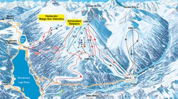 Verbindungspunkt der beiden Skigebiete wird der Talort St. Valentin am Reschensee sein.