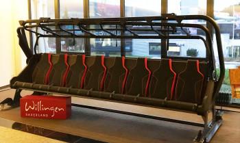 Die neuen Sesselbahnen werden mit bequemen Polstern und Wetterschutzhauben ausgestattet.
