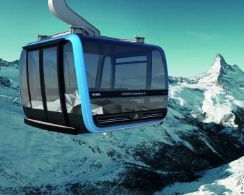 Auf über 3800 Metern Höhe bringt die neue Glacier Ride Seilbahn die Wintersportler in Zermatt.
