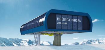 Visualisierung der neuen Bergstation am Brüggerhorn in Arosa