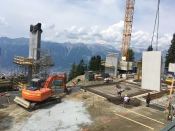 Die Bauarbeiten an der neuen Patscherkofelbahn schreiten zügig voran