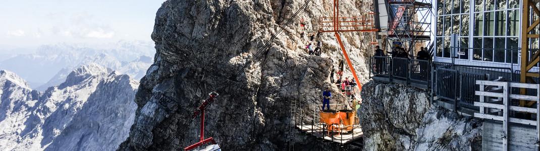 Bauarbeiten in fast 3.000 Metern Höhe - hier sind exakte Planung und volle Konzentration gefordert.