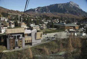 Für die neue Freccia nel Cielo Gondel wird auch die Talstation in Cortina modernisiert.