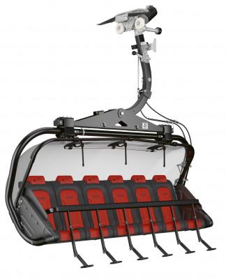 Die neue Sesselbahn ist mit Wetterschutzhauben und Kindersicherung ausgestattet.