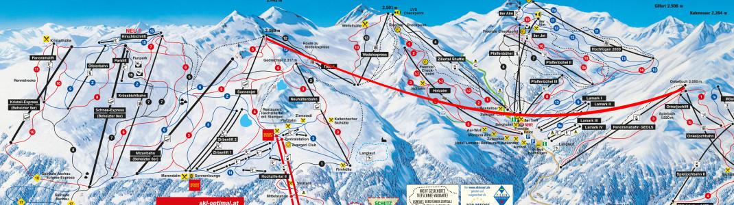 Die Schultz Gruppe plant zur Wintersaison 2019/2020 eine gigantische Peak-to-Peak-Seilbahn vom Riederer Wetterkreuz bis zum Onkeljoch.
