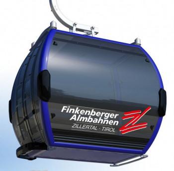 So sehen die Gondeln der neuen 10er-Einseilumlaufbahn Finkenberg I aus.