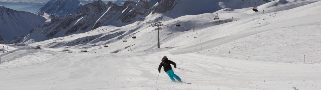 Skifahren am höchsten Berg Deutschlands