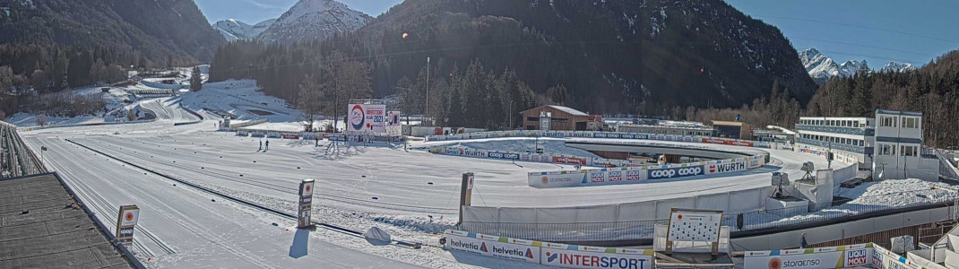 Im Langlaufstadion von Oberstdorf findet ein Großteil der Wettkämpfe statt.