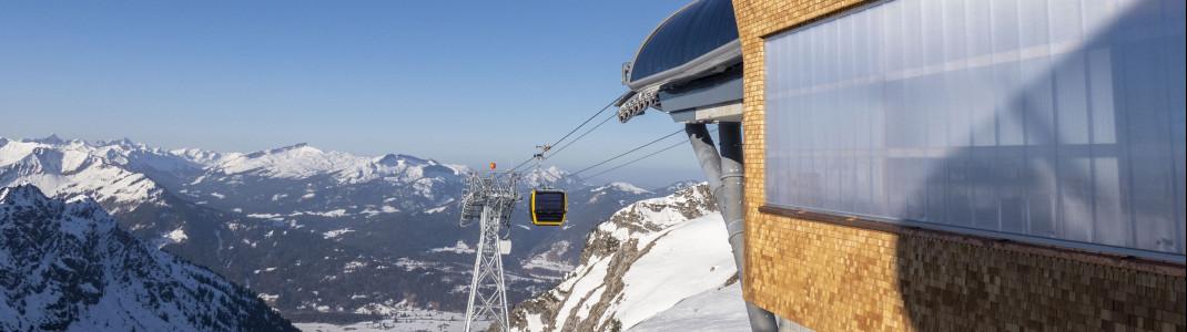 Nach zwei Jahren Bauzeit wird die neue Nebelhornbahn an Pfingsten 2021 eröffnet.