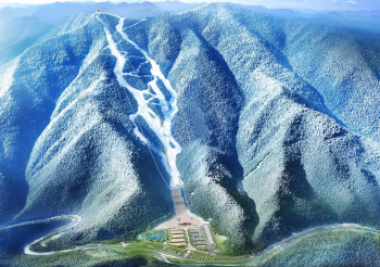 Am dicht bewaldeten Berg Gariwang entstand das Skigebiet Jeongseon.