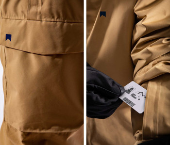 The most important features of the jacket and pants.