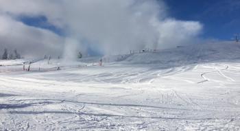 Schnee so weit das Auge reicht: Ein Bild vom 1. Dezember 2017 am Feldberg.