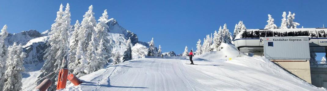 Im Februar stieg das Thermometer in Garmisch-Classic mehrere Tage nicht über -10 Grad.