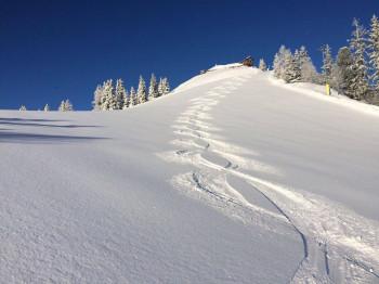Das gibts auch nur selten: An Ostern konnten Skifahrer in Schladming im frischen Neuschnee powdern.