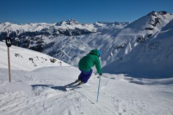 Nur für Könner geeignet: In Silvretta Montafon gibt es mit den 7 Black Scorpions gleich mehrere steile Abfahrten.