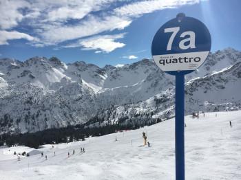 Viele blaue Pisten gibt es in der Skiregion Oberstdorf-Kleinwalsertal, wie hier am Fellhorn.