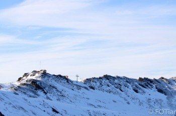 Die Pisten von Cerro Castor führen bis auf 1.057 Meter