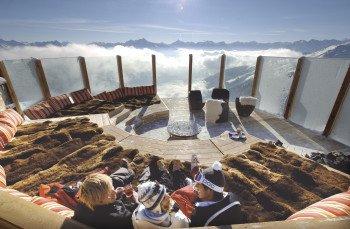 Traumpanorama mit Kuschelfaktor: Die Kristallhütte im Skigebiet Hochzillertal.