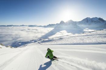 Auch am Osterwochenende noch perfekte Bedingungen erwarten euch am Corvatsch bei St. Moritz.
