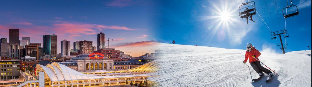 Die Stadt Denver erkunden und in Aspen die legendären Skiberge erobern