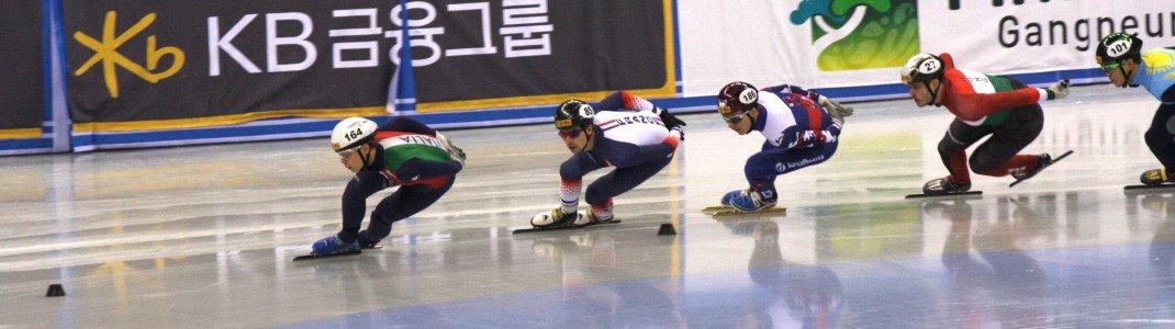 Die Shorttrack-Wettkämpfe finden im neuen Stadion in Gangneung statt.