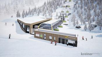 Die neue Lärchkogelbahn auf der Planai eröffnet im Dezember.