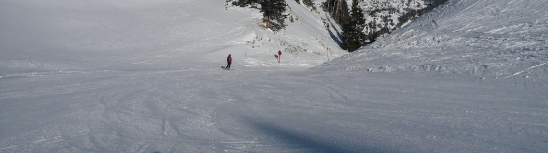 "Easy terrain at the ""Sunnyside lifts"""