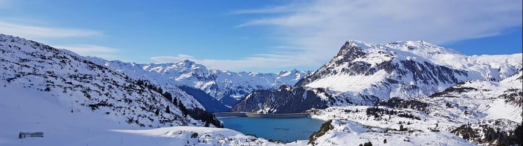 A dream panorama awaits winter sports enthusiasts at Silvapark Galtür!