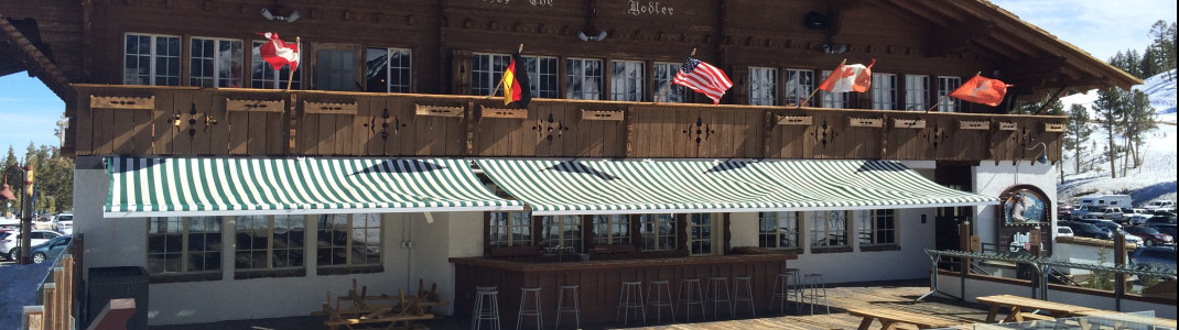 Bavarian après-ski in California: Yodler at the Main Lodge serves brats, schnitzel and beer.