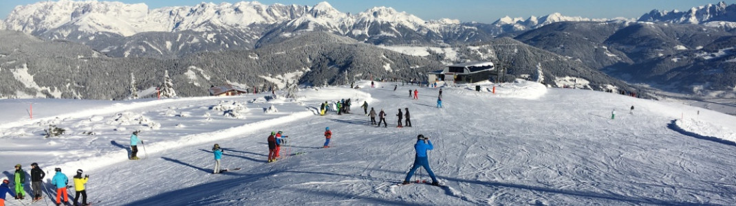 Wide pistes and a fantastic panorama await you