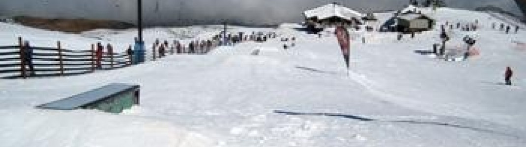 "beginners terrain park at the ""Wintergarden"""