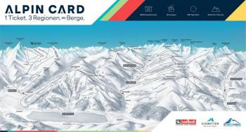 Mit der Alpin Card können mehr als 400 Pistenkilometer genutzt werden.