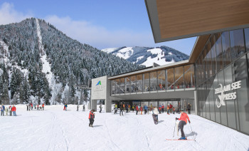 With the new zellamseeXpress, Viehhofen is also connected to the skiing area Schmittenhöhe.