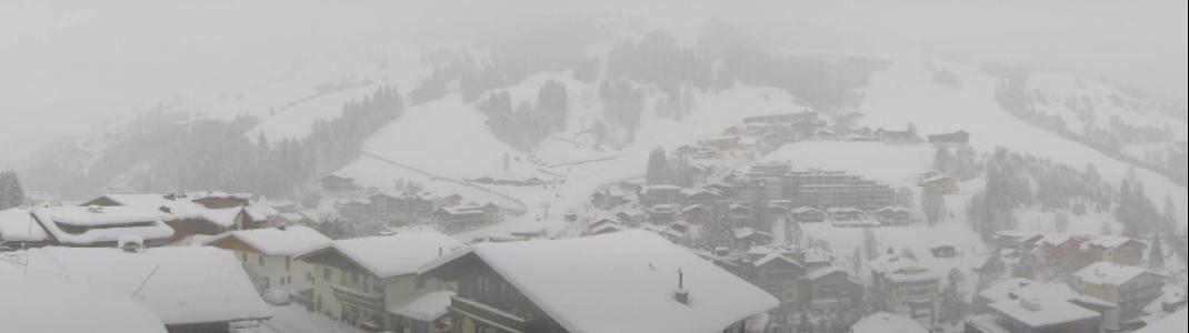 Dichtes Schneetreiben den ganzen Samstag in Hinterglemm.