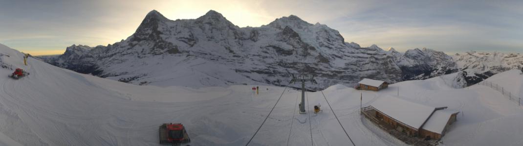 Am Wochenende startet die Lauberhorn-Bahn an der Kleinen Scheidegg im Skigebiet Grindelwald-Wengen.