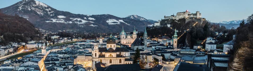 Abendstimmung in der Stadt Salzburg