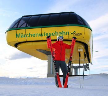 Endlich wieder Skifahren: Die Märchenwiesebahn ist ab Freitag zusammen mit der Burgstallalmbahn durchgängig geöffnet.