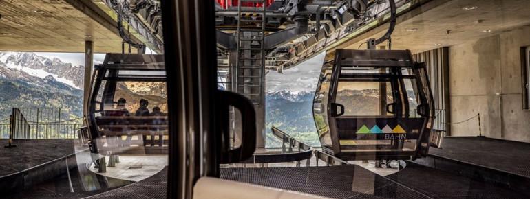 Dreimal so viele Personen wie früher kann die neue Jennerbahn zum Gipfel befördern.