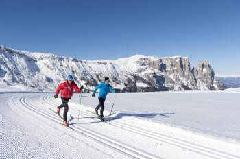 Die Seiser Alm ist ein Eldorado für Langläufer.