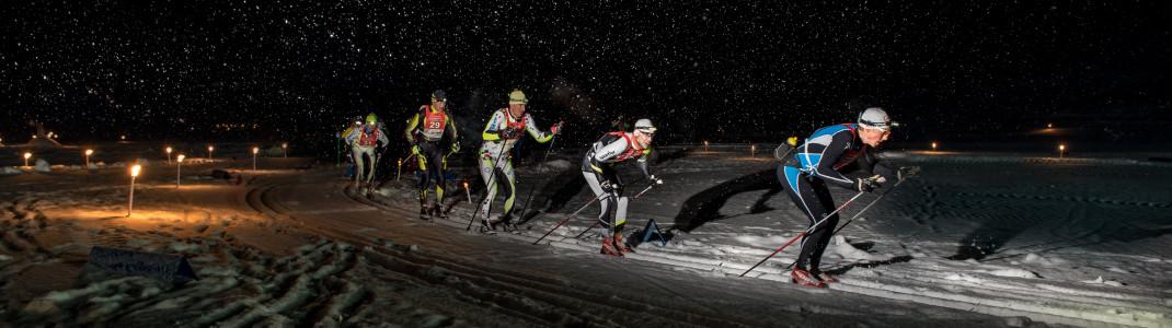 Das Moonlight Classic ist das Highlight der Langlaufsaison auf der Seiser Alm.